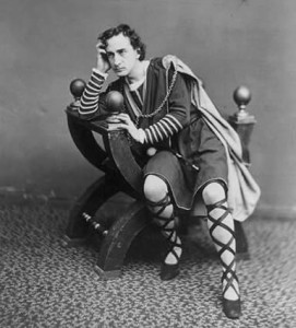 Edwin Booth playing Hamlet