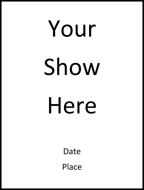 An easy program template for your show