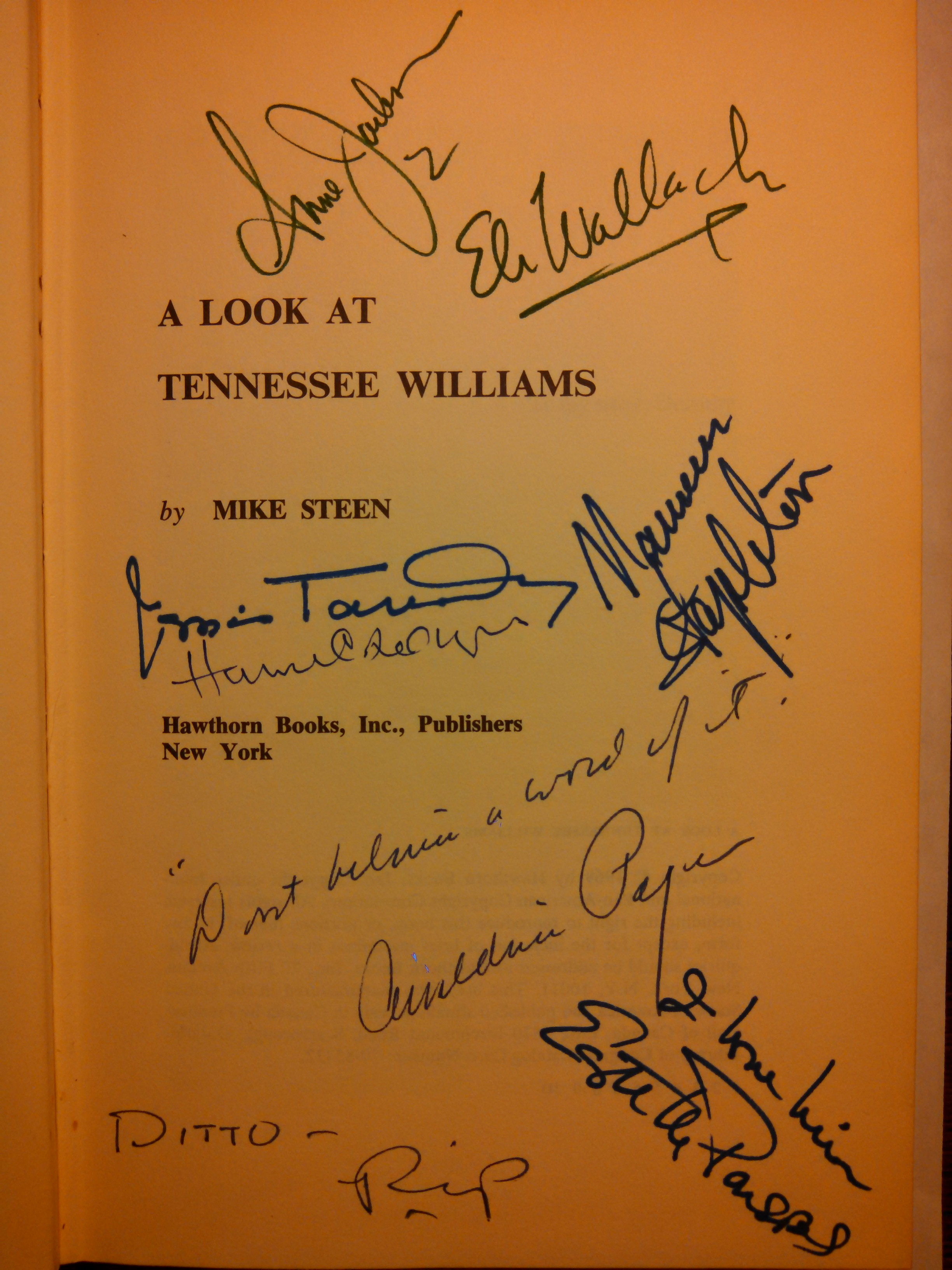 My newest acquisition: A Look at Tennessee Williams