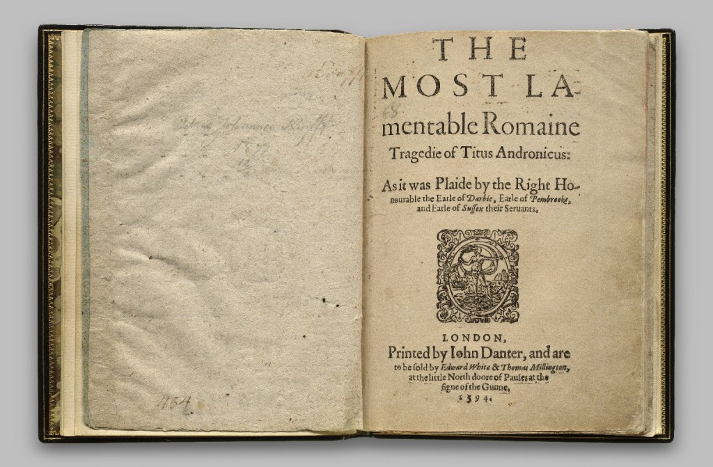 The 1594 Quarto edition of Titus Andronicus (folger.edu)